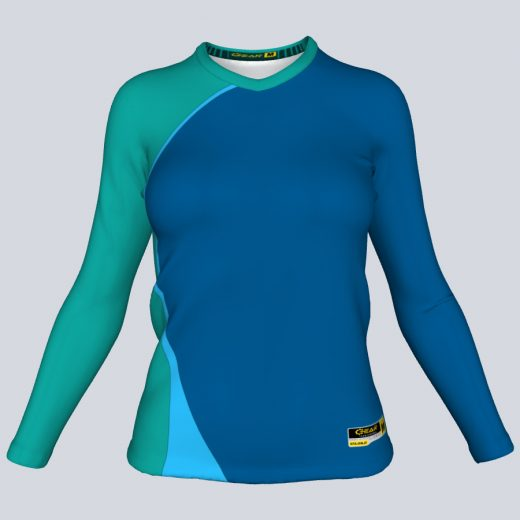 Ladies Asia Fitted Long Sleeve Front