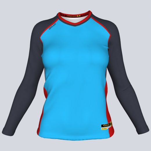 Ladies Bombshell Fitted Long Sleeve Front