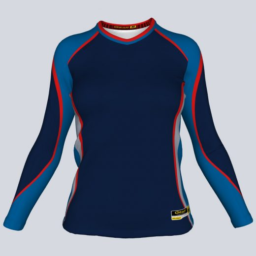 Ladies Oasis Fitted Long Sleeve Front